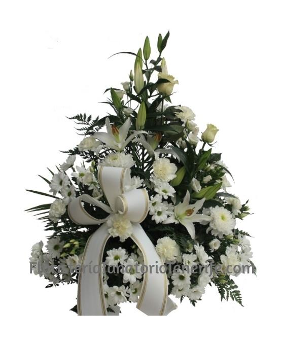 Flores para funeral, flores para difuntos, flores funerarias, centros de flores para entierros, flores condolencias, Tanatorio Tenerife, Centros funerarios flores