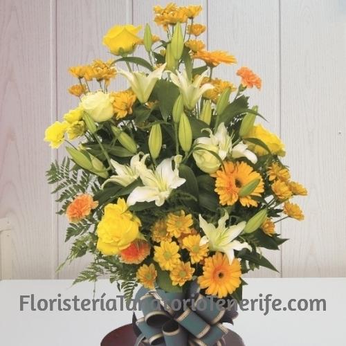 Ramo flores para difuntos de Tenerife