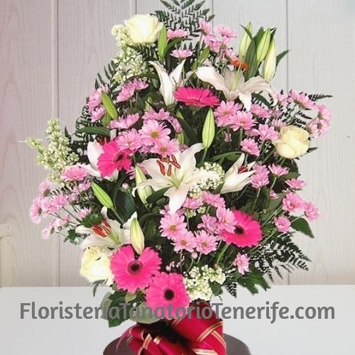 Ramo Funerario Rosa Tenerife