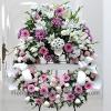 Corona Funeraria Tonos Rosados