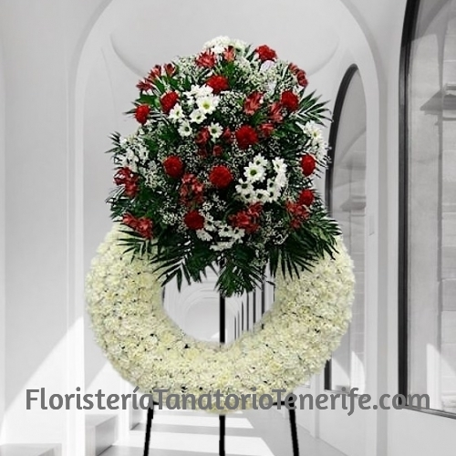 Corona Funeraria Blanca Tenerife