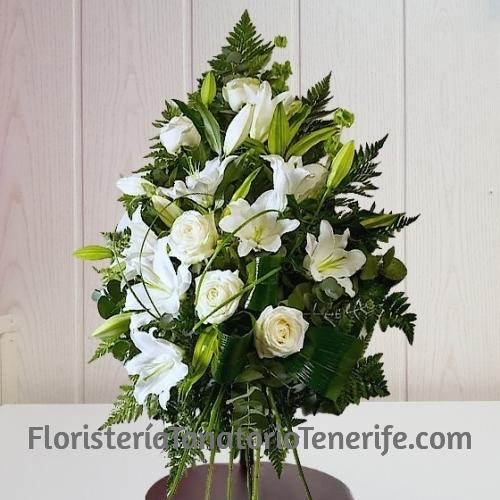 Ramo de Flores Blancas para Tanatorio