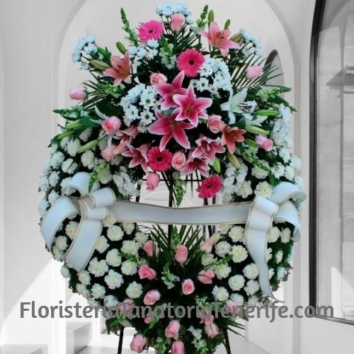 Corona funeraria para difuntos en Tenerife