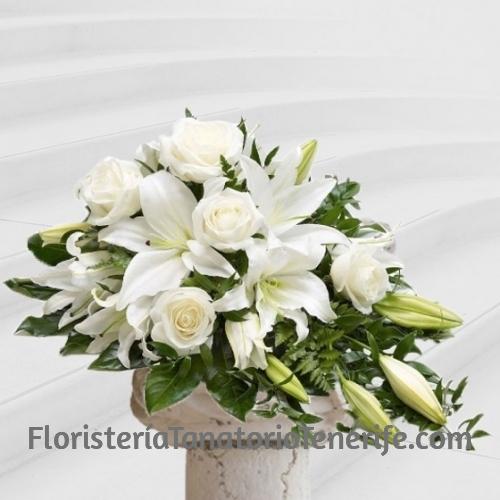 Centro flores para difuntos