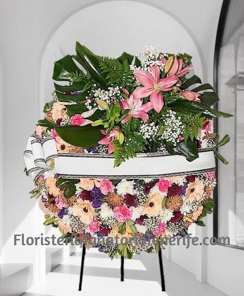 Enviar Corona Funeraria Flor Variada