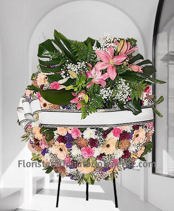 Corona Flor Variada para difuntos